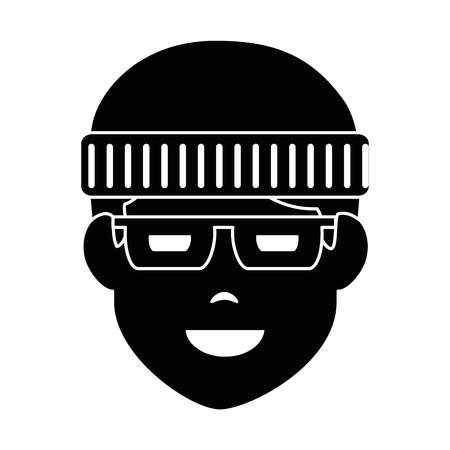 Dieb avatar Charakter Symbol Vektor-Illustration Design Standard-Bild - 90514143