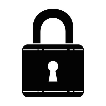 자물쇠 보안 절연 아이콘 벡터 일러스트 레이 션 디자인