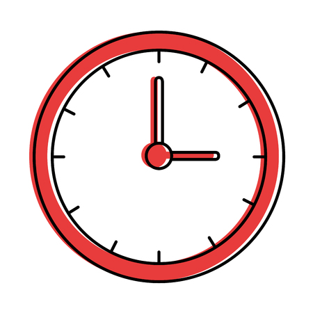 time clock isolated icon vector illustration design 向量圖像