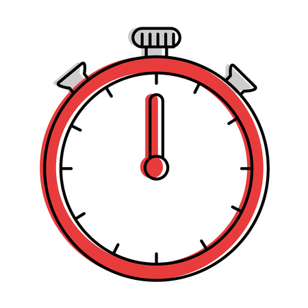 chronometer clock isolated icon vector illustration design
