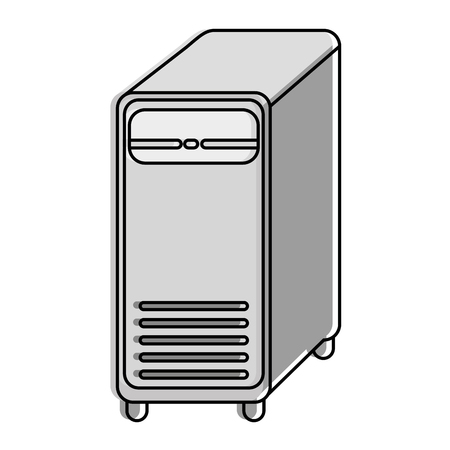 computer tower isolated icon vector illustration design Çizim