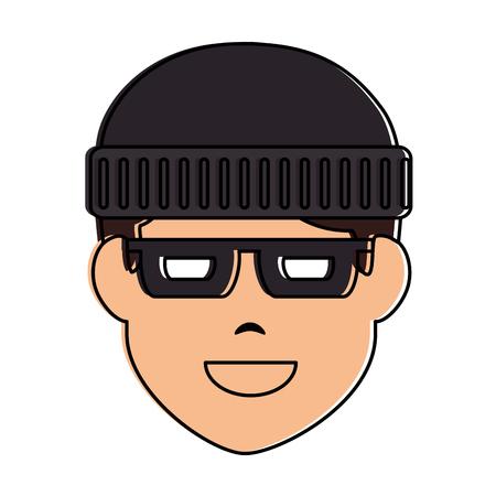 thief avatar character icon vector illustration design Stock Vector - 90525477