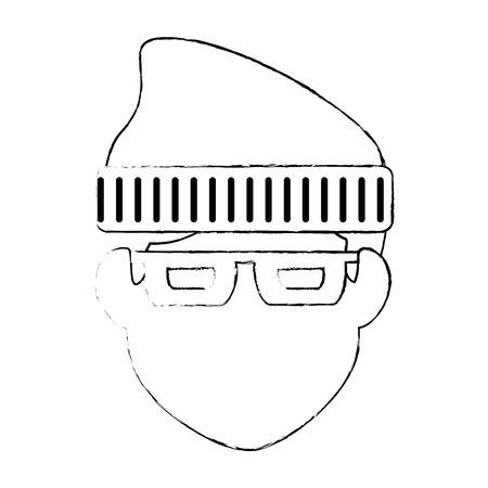 thief avatar character icon vector illustration design
