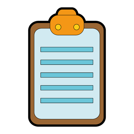 checklist clipboard isolated icon vector illustration design Illustration