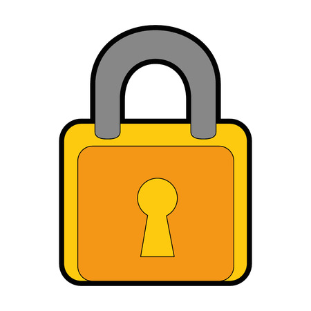 padlock security isolated icon vector illustration design