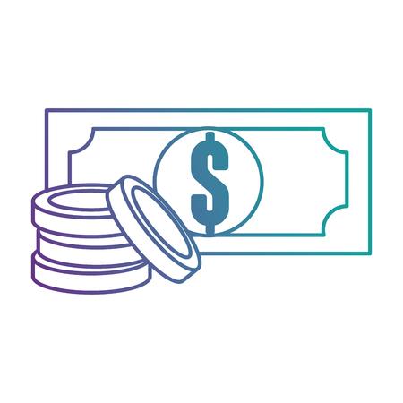 紙幣ドルお金アイコンベクトルイラストデザイン