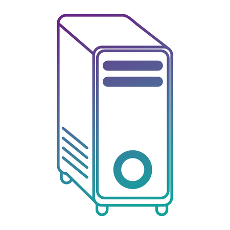 computer tower isolated icon vector illustration design Stok Fotoğraf - 90526107
