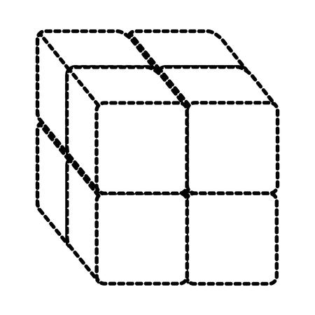 블록 아이콘 벡터 일러스트 디자인 큐브