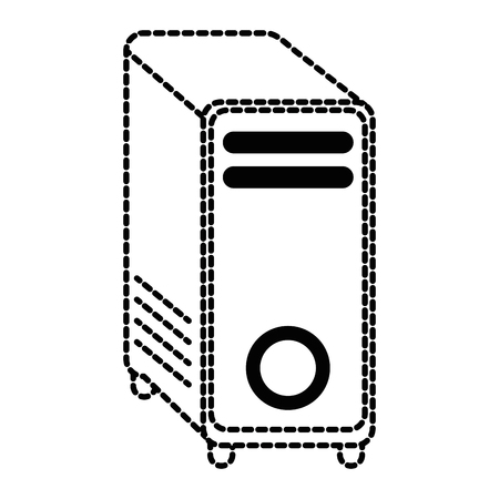 computer tower isolated icon vector illustration design Illustration