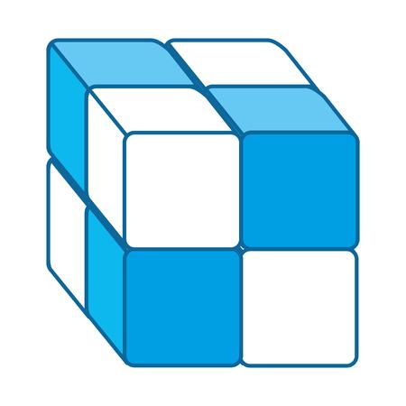 Cube avec des blocs icône illustration vectorielle conception Banque d'images - 90526672