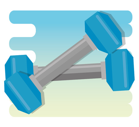 healthy lifestyle concept with dumbbells vector illustration graphic design
