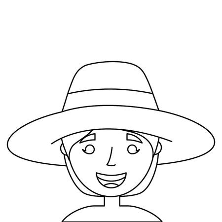 old woman face lady grandma cartoon vector illustration Иллюстрация