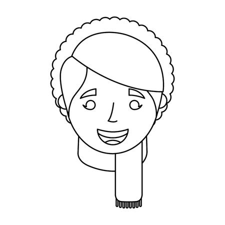 老婆顔女性おばあちゃん漫画ベクトル図