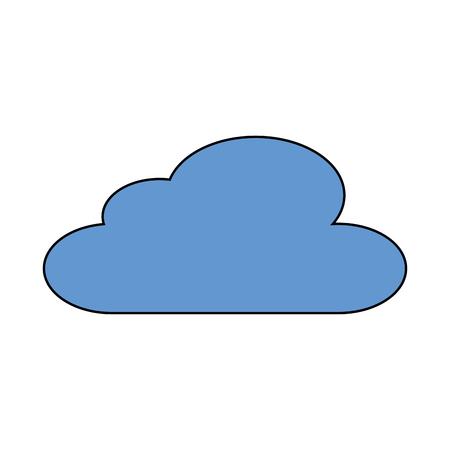 cloud sky climate meteorology design vector illustration Banco de Imagens - 90617336