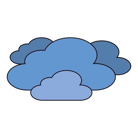 clouds weather sky night scene vector illustration Ilustração