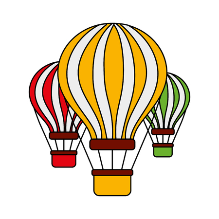 three airballoons travel recreation tourism vector illustration Illustration