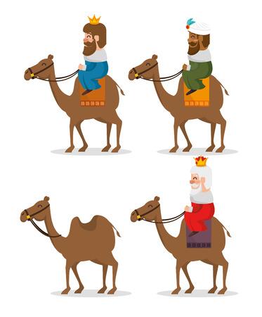 les trois rois magiques des hommes sages orientaux vector design graphique