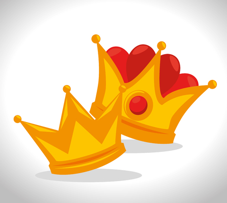 royal gold crown for king vector illustration graphic design