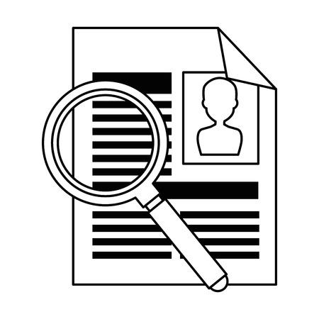 虫眼鏡ベクトル イラスト デザインと履歴書