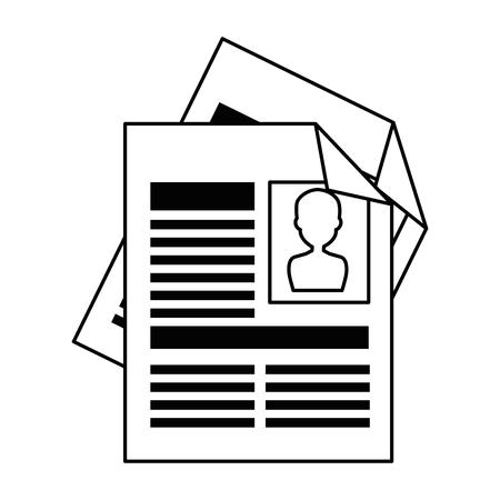 Curriculum vitae geïsoleerde pictogram vector illustratie ontwerp Stockfoto - 90649974