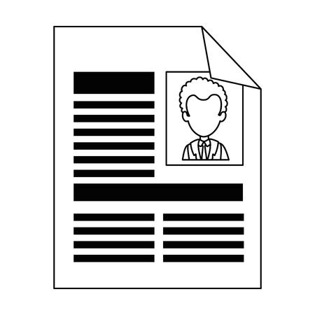 Curriculum vitae geïsoleerde pictogram vector illustratie ontwerp Stockfoto - 90649976