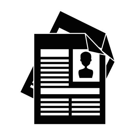 Curriculum vitae geïsoleerde pictogram vectorillustratieontwerp Stockfoto - 90650039