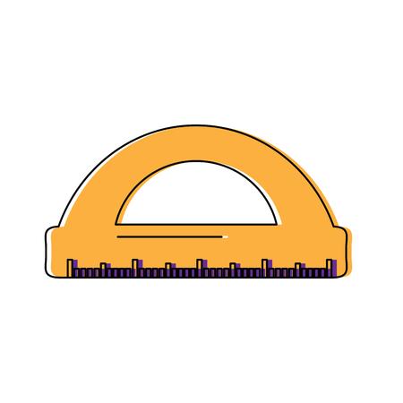 눈금자 측정 아이콘 이미지 벡터 일러스트 디자인 일러스트