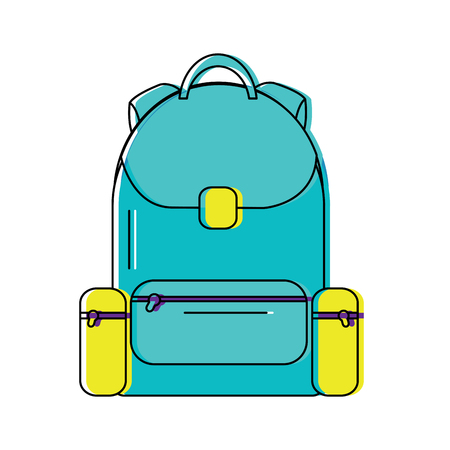 backpack school icon image vector illustration design