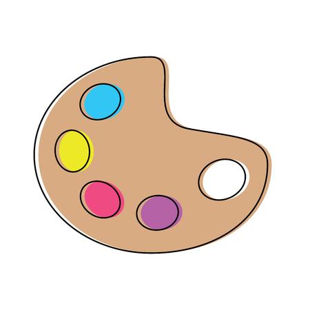 palette paint supplies icon image vector illustration design Illustration