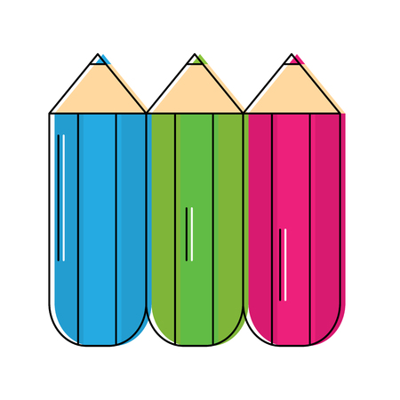 colored pencils school supplies icon image vector illustration design 일러스트