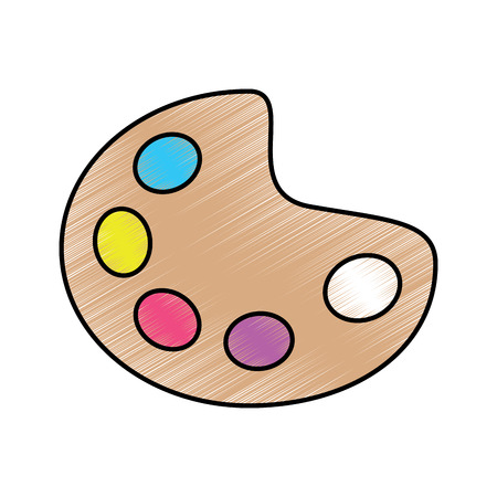 palette paint supplies icon image vector illustration design 向量圖像