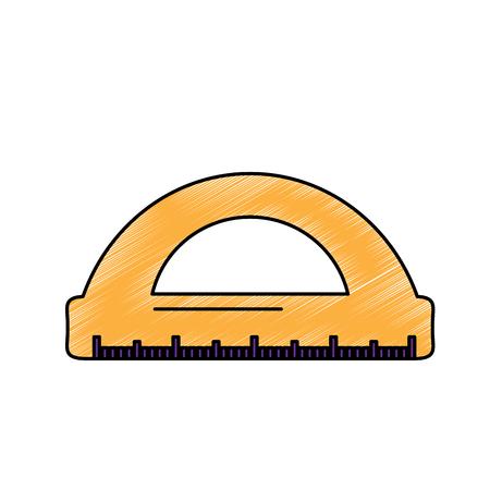 ruler math measuring icon image vector illustration design
