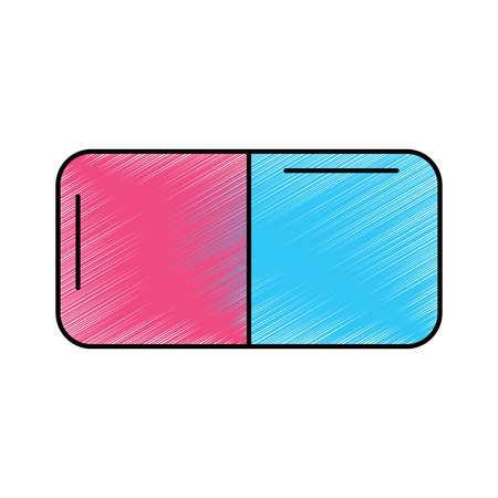 eraser with two sides icon image vector illustration design Illustration