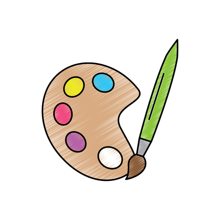 paint brush school supplies icon image vector illustration design