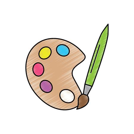 paint brush school supplies icon image vector illustration design