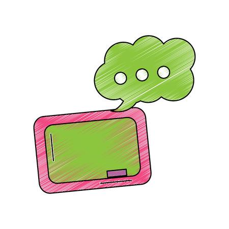 chalkboard and speech bubble school supplies icon image vector illustration design Ilustração