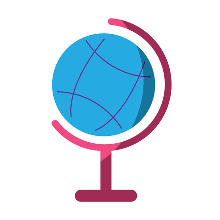 planet earth map globe  icon image vector illustration design