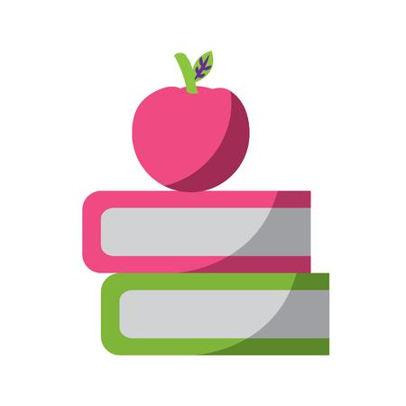 書籍やリンゴアイコン画像ベクトルイラストデザイン  イラスト・ベクター素材
