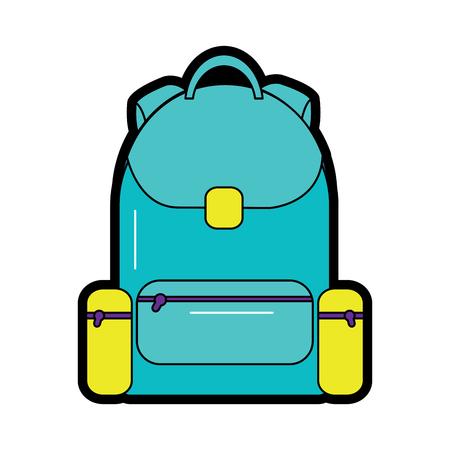 rugzak school pictogram afbeelding vector illustratie ontwerp