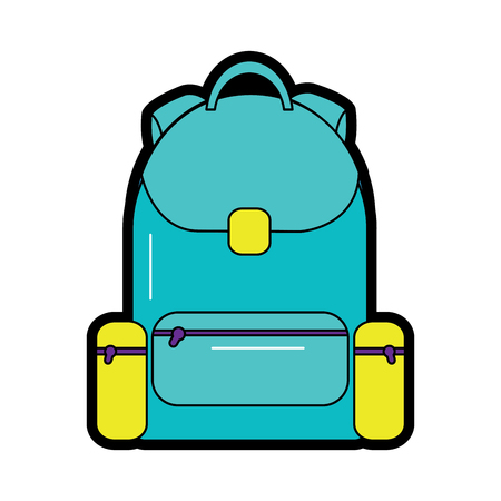backpack school icon image vector illustration design