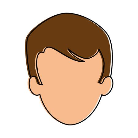젊은이 머리 아바타 캐릭터 벡터 일러스트 디자인 스톡 콘텐츠 - 90791224