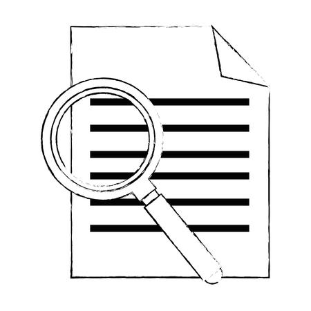 curriculum vitae met ontwerp van de vergrootglas het vectorillustratie