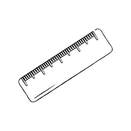 ruler math measuring icon image vector illustration design  black sketch line