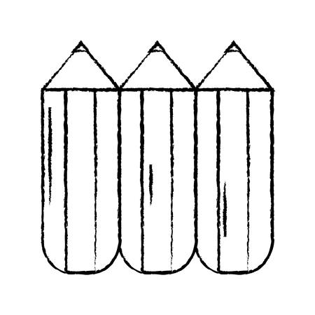 pencil chubby icon image vector illustration design  black sketch line