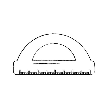 ruler math measuring icon image vector illustration design  black sketch line Фото со стока - 90670249