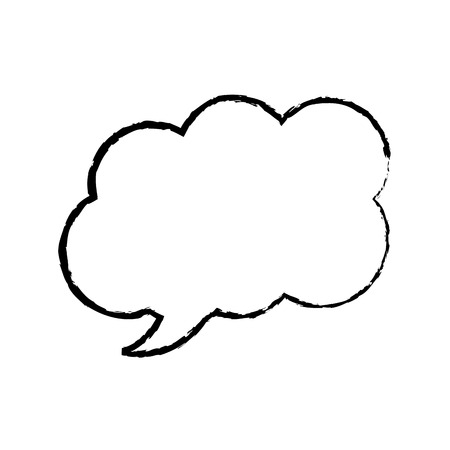 speech or thought bubble icon image vector illustration design  black sketch line Ilustracja
