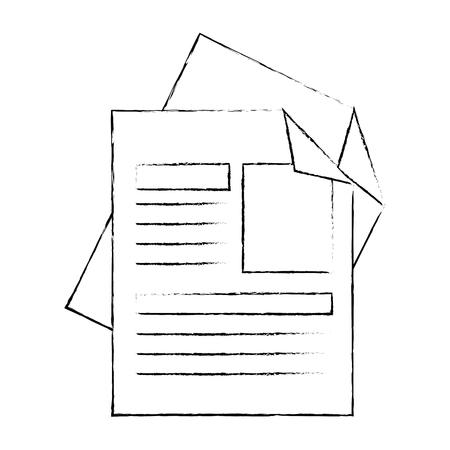 curriculum vitae geïsoleerde pictogram vector illustratie ontwerp