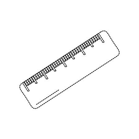 ruler math measuring icon image vector illustration design  black dotted line