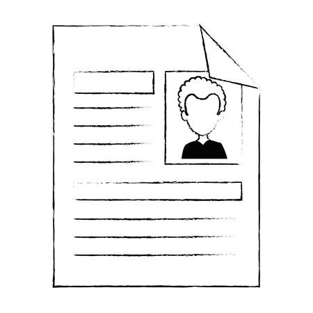 Curriculum vitae geïsoleerde pictogram vector illustratie ontwerp Stockfoto - 90670445