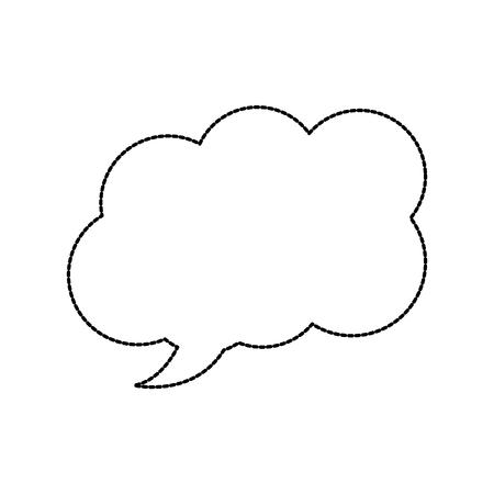 spraak of gedachte zeepbel pictogram afbeelding vector illustratie ontwerp zwarte stippellijn